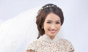 Kiểu tóc cô dâu đẹp cho cô dâu có gương mặt tròn